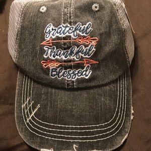 Women's Katydid thankful trucker hat